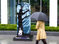 The Thing With Feathers by Loz Atkinson #btartbox #childline #london #2012