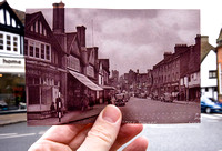 Looking into the past #2 - High Street, Pinner, 1950 from 2010.