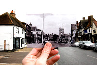 Looking into the past #1 - High Street, Pinner, 1950 from 2010.